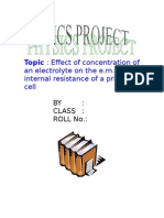 factors affecting internal resistance of a cell project