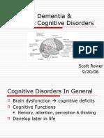 Delirium, Dementia & Amnestic Cognitive Disorders