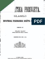 Frano Radic - Starohrvatska Prosvjeta - Glasilo Hrvatskoga Starinarskog Druztva u Kninu - God. VIII. Sv. 1-2