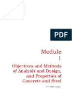 M1 Objectives and Methods of Analysis and Design and Prop or Ties of Concrete and Steel