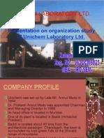 Presentation on Unichem Laboratory Ltd