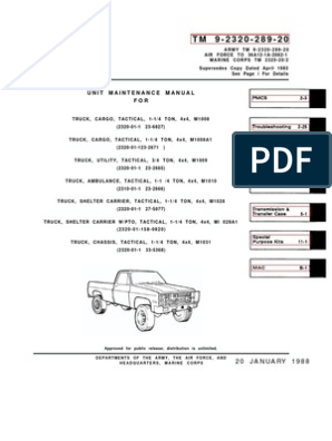 1973-88 Military Chevy Truck Manual1 | Axle | Manufactured Goods on