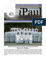iPaul no.15 - Saint Paul Scholasticate Newsletter