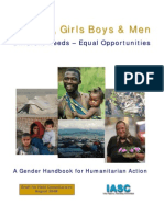 IASC Gender Handbook Draft for Field Consultation August 2006