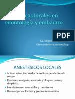 Anestésicos locales en odontología y embarazo