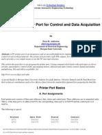 Using Printer Port for Interfacing