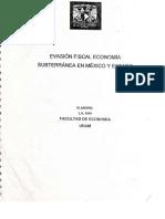 Economía Fiscal Economía Subterranea