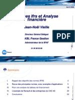 Normes IFRS Et Evaluation Financiere Avril 2006