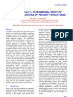 1.Analytically - Experimental Study of Damage Tolerance of Aircraft Structures
