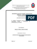DOCUMENTO RECEPCIONAL: EL APRENDIZAJE COOPERATIVO PARA FAVORECER LA CONVIVENCIA GRUPAL Y FORTALECER EL APRENDIZAJE DE LA HISTORIA