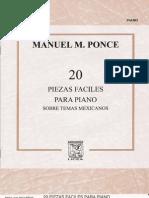 manuel m. ponce • 20 piezas fáciles para piano