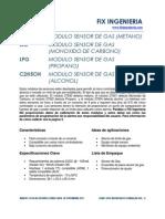 Sensor de Gas CO, CH4, LPG, C2H5OH