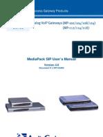 LTRT-65405 MediaPack SIP User's Manual Ver 4
