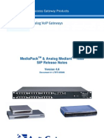 LTRT-65606 MediaPack & Mediant 1000 SIP Analog Gateways Release Notes Ver 4