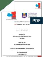 UiTM@UNIKOP OMT 330 Industrial Training Report
