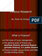 Finance Research