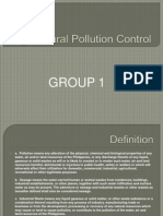 Agricultural Pollution Control