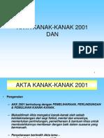 Akta Kanak-kanak 2001 Dan Peranan &