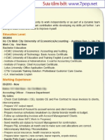 Sample of Curriculum Vitae