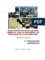 Bases Conceptuales de Auditoria Ambiental