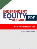 CRISIL Research Ier Report Hero Honda Motors Q2FY11
