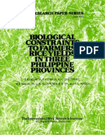 IRPS 30 Biological Constraints to Farmers' Rice Yields in Three Philippine Provinces