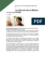 Inofensiva la crítica de arte en México_ Teresa del Conde
