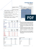 Derivatives Report 19th September 2011