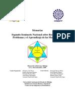 Memorias II Seminario Nacional sobre Resolución de Problemas y Aprendizaje de las Matemáticas