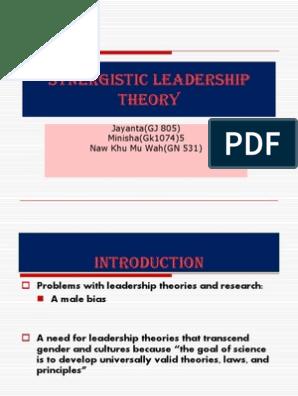 Synergetic Leadership Theory | Leadership | Leadership