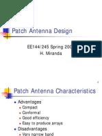 Patch Antenna Design