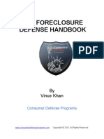 Vince Khan Foreclosure Defense Handbook