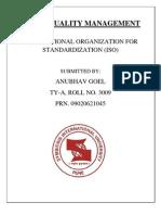 TQM Assignment - Anubhav