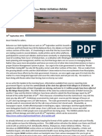 Flood Update VII From WIO - 19th September 2011