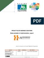 Rapport d'étude préalable à l'expérimentation Hirondo Aquitaine