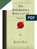 The Mahabharata- Book 5 of 18- Udyoga Parva
