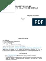Model Proiect de Seminar