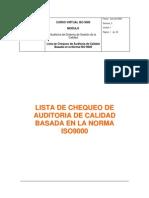 Lista Chequeo Auditorias Internas