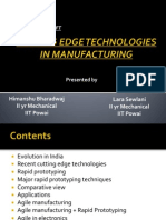 CUTTING EDGE TECHNOLOGIES IN MANUFACTURING