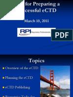 eCTD Tips 10 Mar 2011