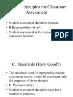 Guiding Principles for Classroom Assessment