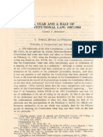 PLJ Volume 62 Second Quarter -02- Vicente v. Mendoza - A Year and a Half of Constitutional Law 1987 -1988