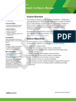 EDU DATASHEET vSphereInstallConfigureManage V5 BETA2