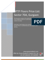 BPTP Floors Price List