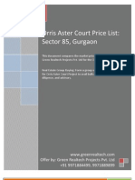 Orris Aster Court Price List