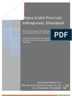 Shipra Srishti Price List