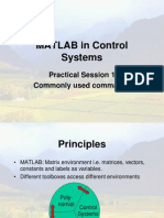 P1 Matlab - Matlab in Control Systems