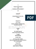 general management report