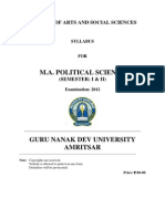 m.a. Political Science _semester i & II