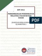 Kerja Kursus KPF 3012 Semester 2 UPSI